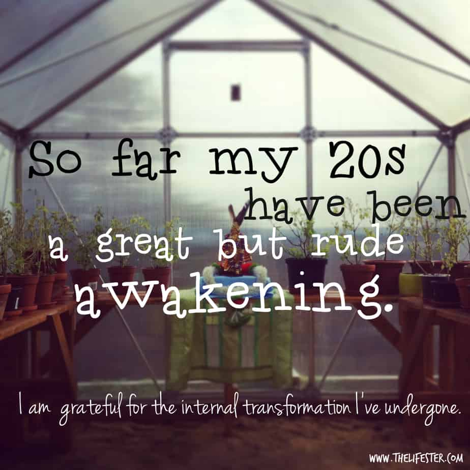 Affirmation about gratefulness in our 20s