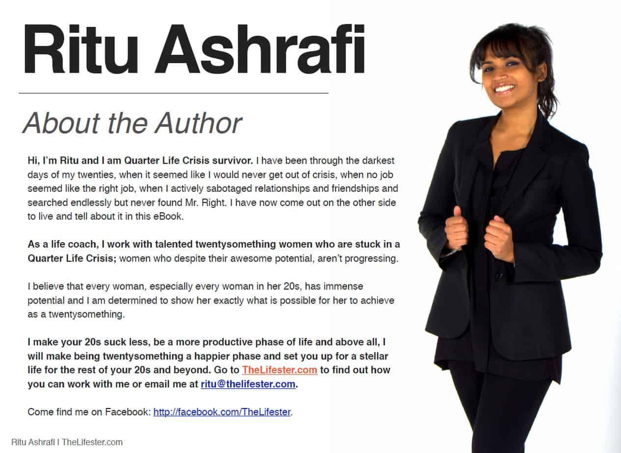 Ritu Ashrafi Book - about the author
