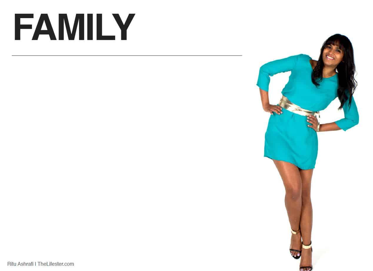Ritu Ashrafi Book - section title page - family