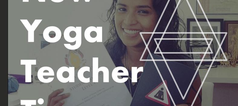 3 Tips for New Yoga Teachers