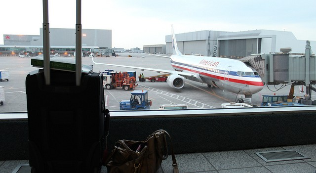 leaving on a plane baggage