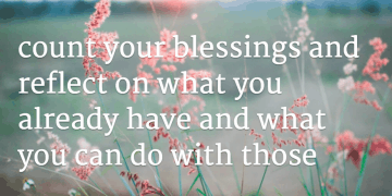 how to stay positive - count your blessings