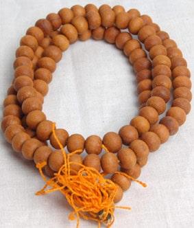 wooden mala beads