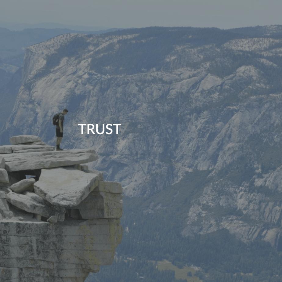 Trust & leap of faith